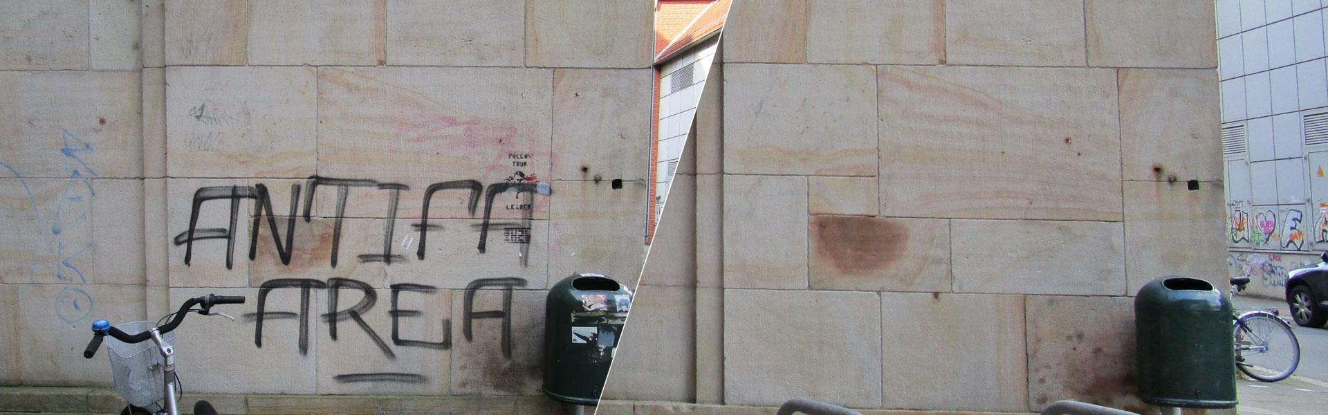 Graffitientfernung Oldenburg Bremen Denkmalpflege Sandstein