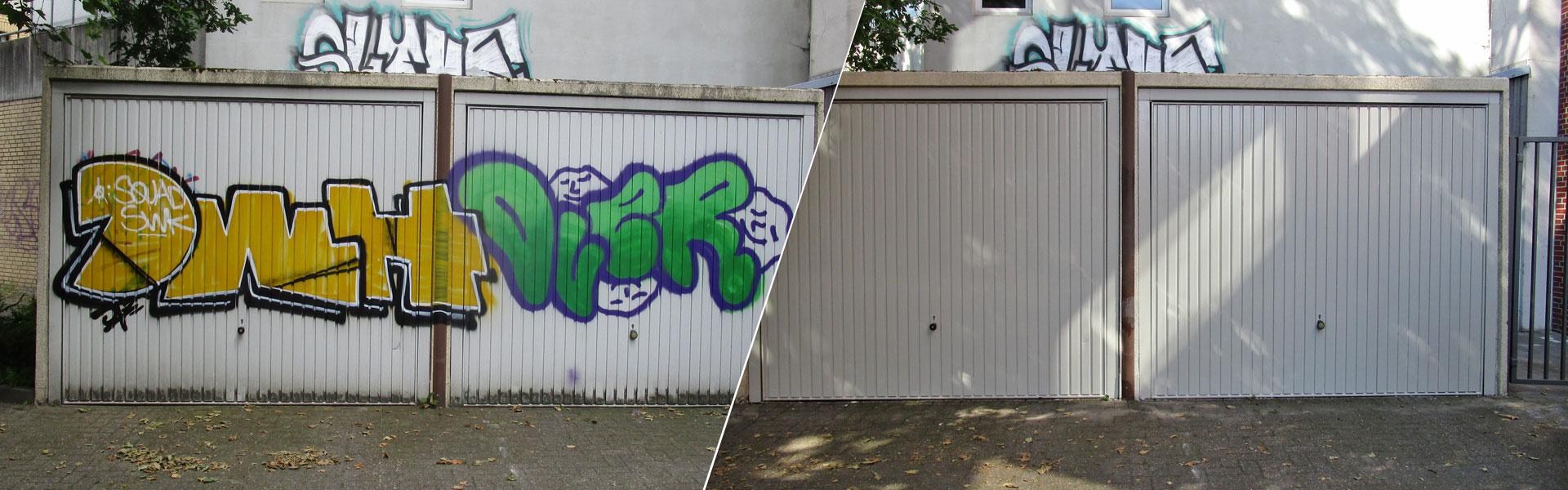 Graffitientfernung Oldenburg Bremen Garagentor