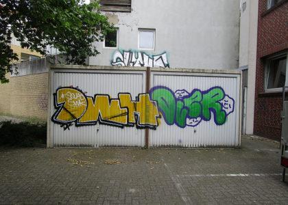 Graffitientfernung Oldenburg Bremen Kaiserstr. 27 vorher 001