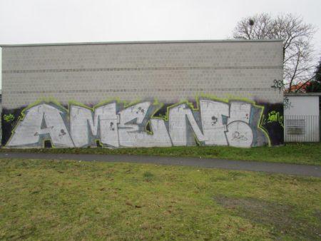 Graffitientfernung Oldenburg Am Wendehafen vorher